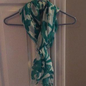 Jcrew turquoise scarf